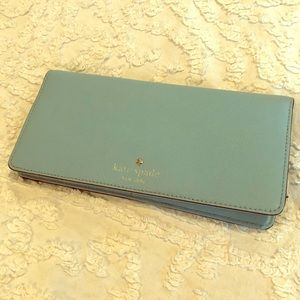 Kate Spade Powder Blue Wallet BiFold Zipper Pocket